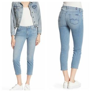 7 for all mankind Kimmi crop jeans